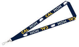 "Cal Bears 3/4"" Sublimated Satin Lanyard Mom Design"