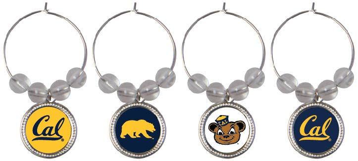 University of California Berkeley Set of Four Wine Charms