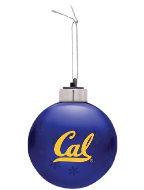 Light Up Ornament gold Cal script