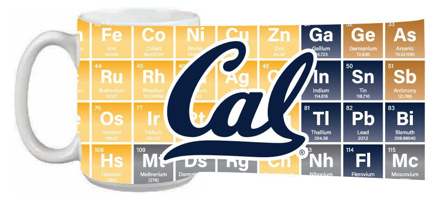 Cal Bears 15oz Impact Grande Mug Periodic Table Cal