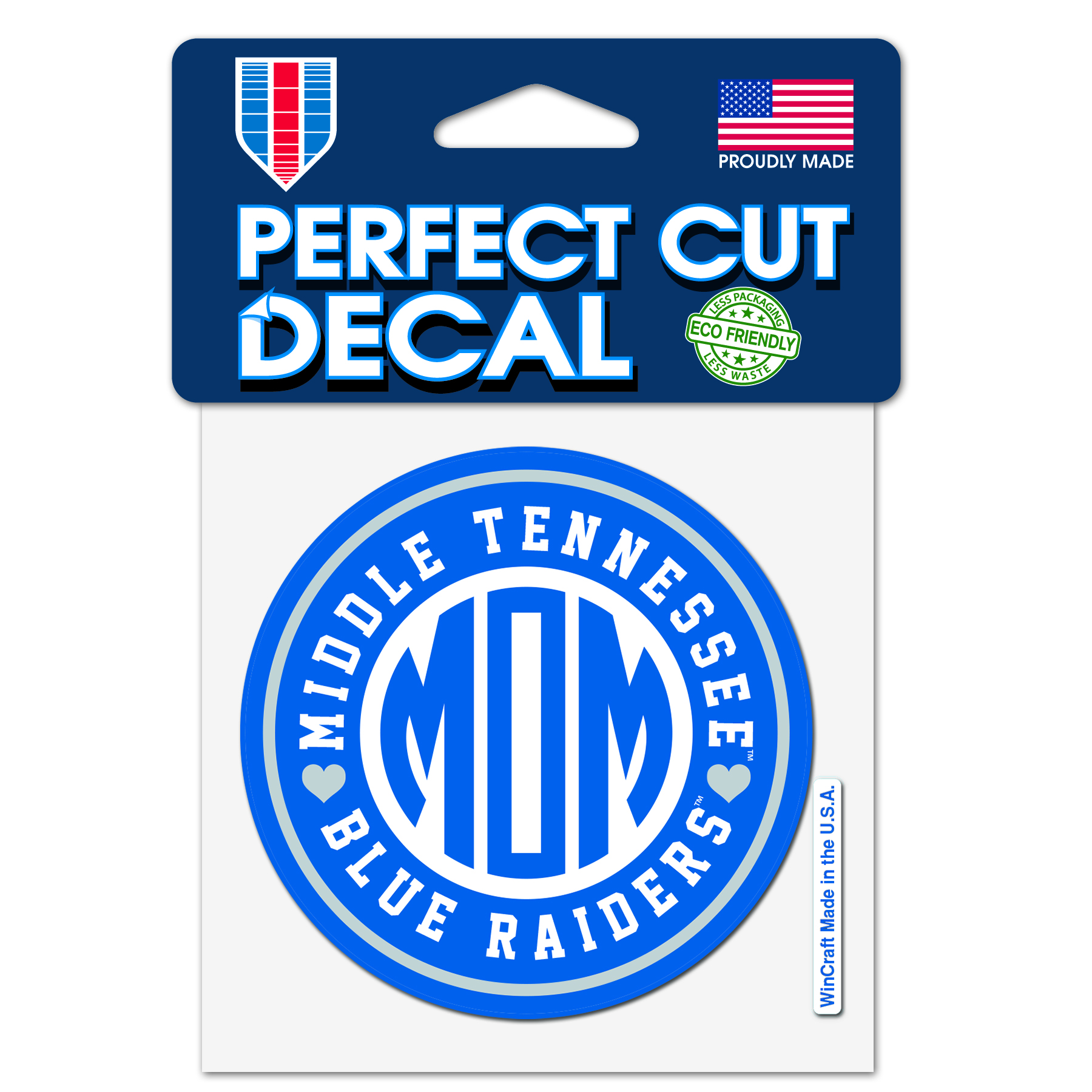 Middle Tennessee Blue Raiders Mom Perfect Cut 4x4 Decal