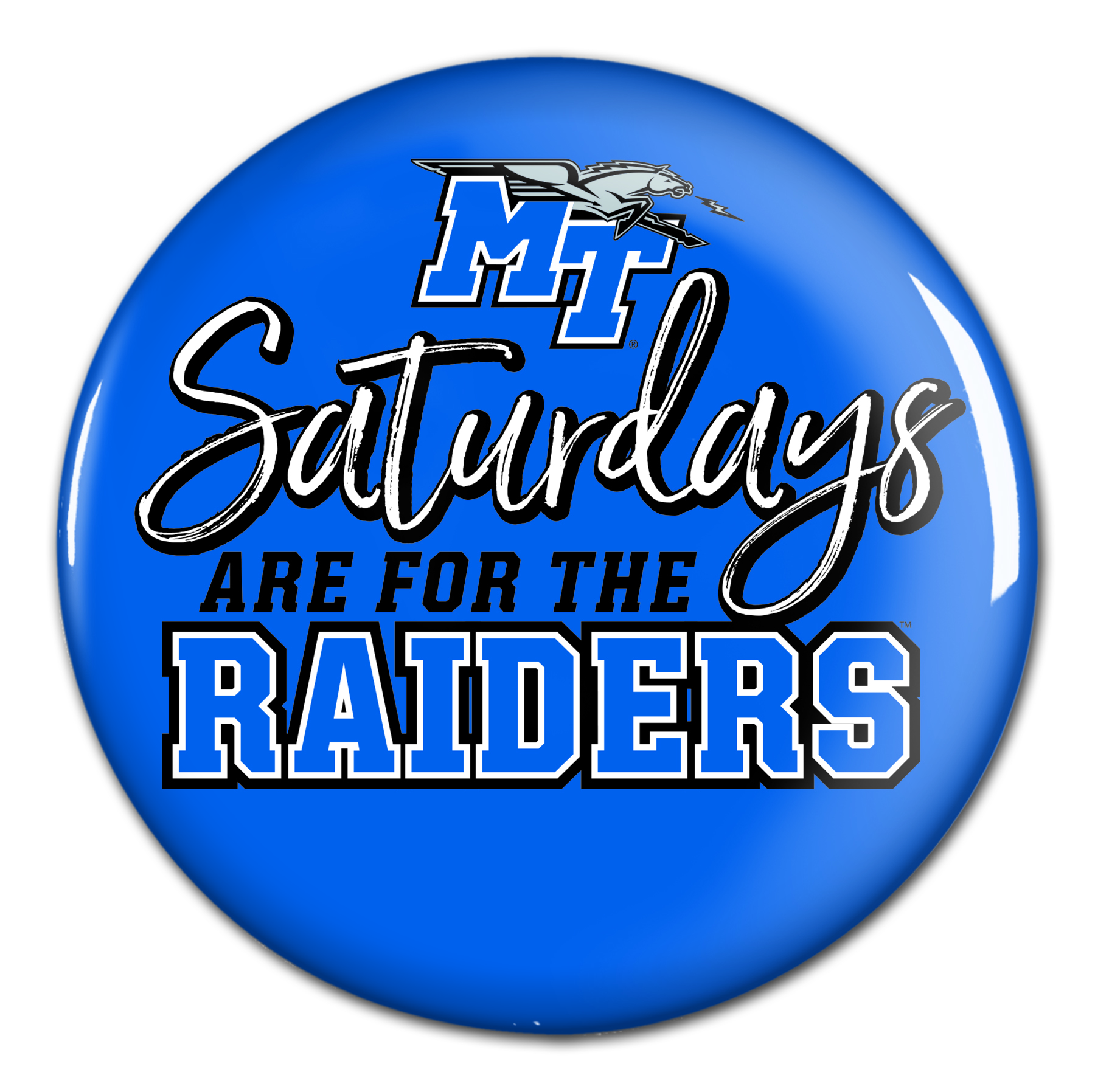 "Saturdays are for the Raiders 3"" Button"