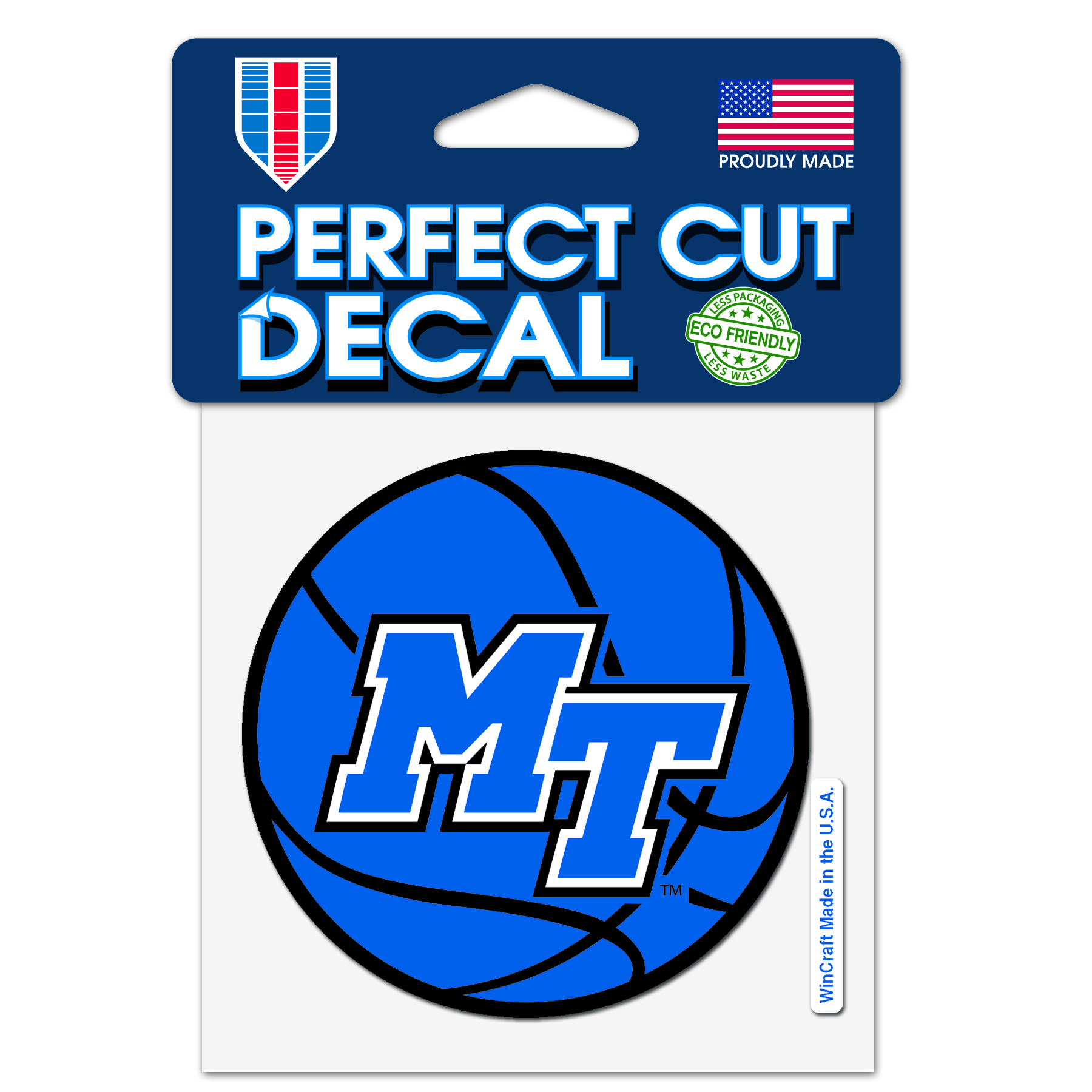 MT Basketball Perfect Cut 4x4 Decal