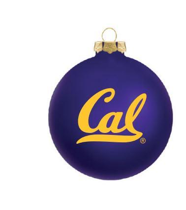 University of California Berkeley Traditional Glass Ornament with Cal Logo