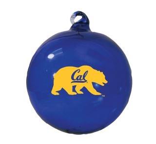 Hand Blown Glass Ornament Bear with Cal Script