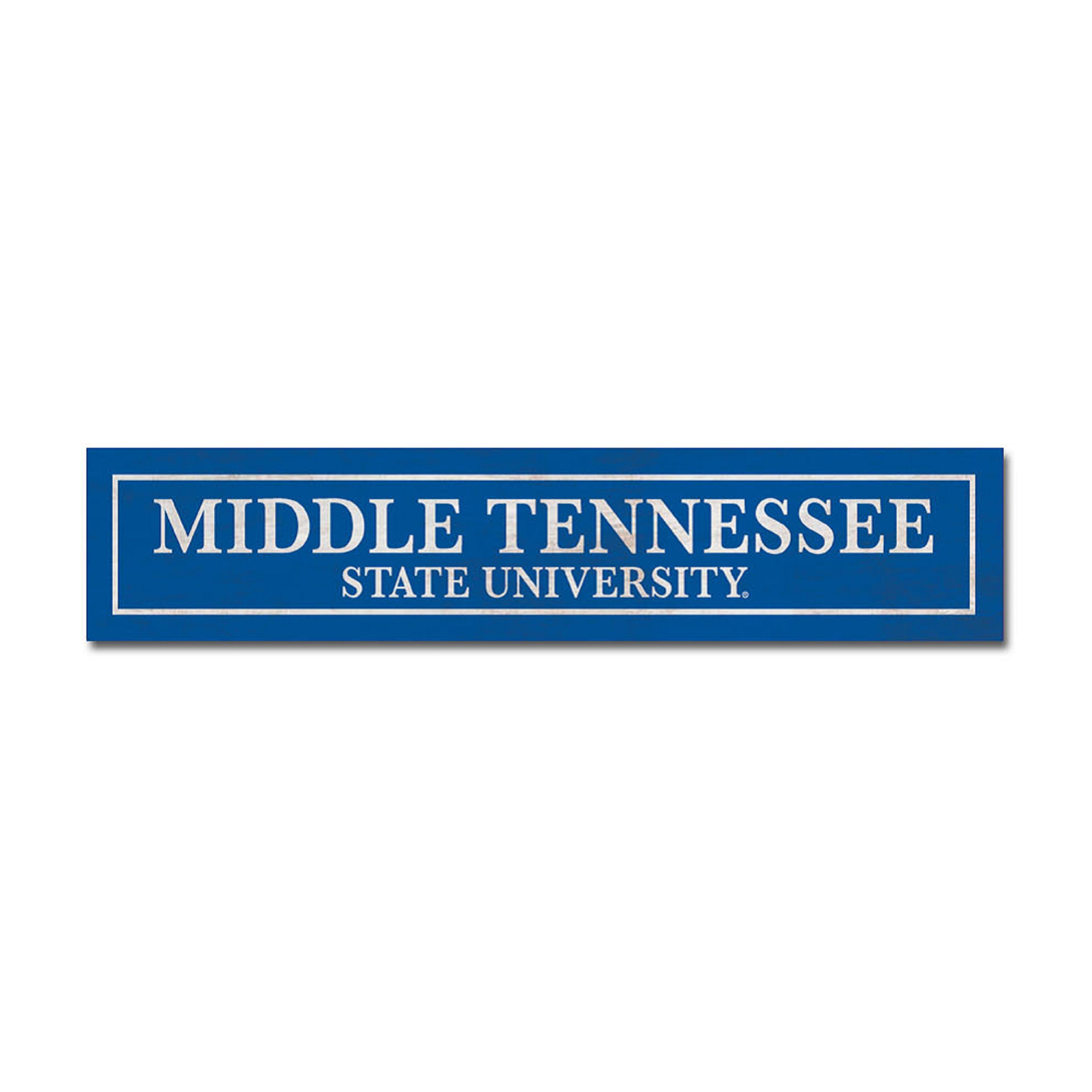 Middle Tennessee State University Table Top Sign