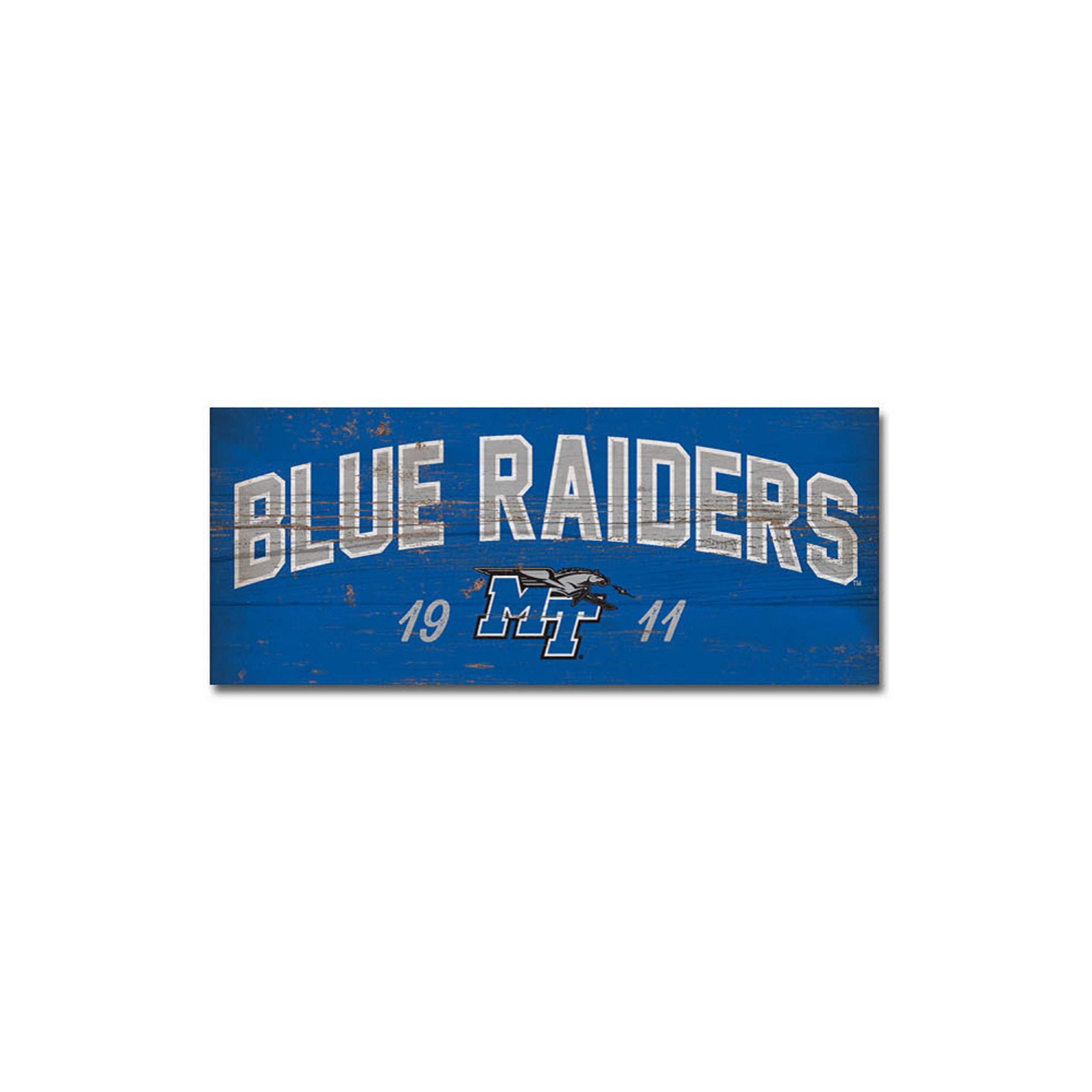 MT Est. 1911 Blue Raiders Table Top Sign