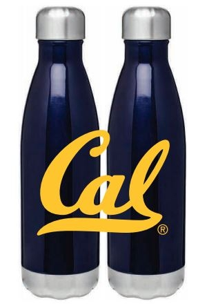 Metallic Blue 17oz. Force Bottle with gold ink cal logo
