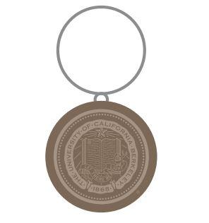 Round Wooden Keytag Seal Logo