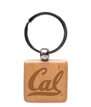 Rectangle Wooden Keytag Cal Logo