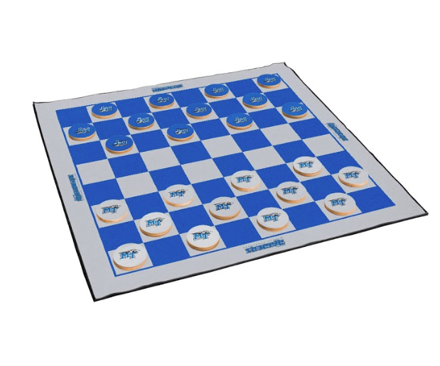 MT Blue Raiders Giant Checkers & All Weather Mat