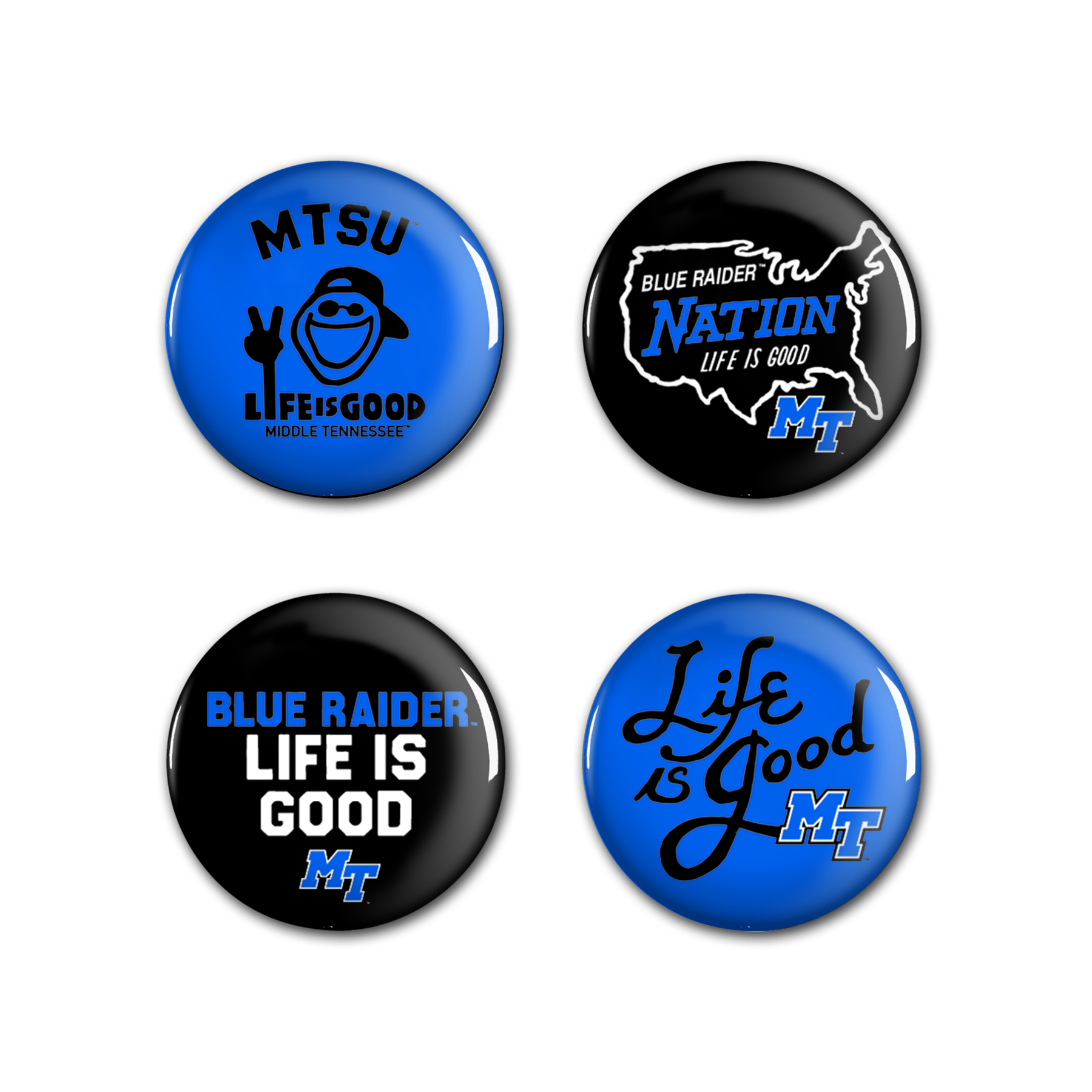 MTSU Life is Good 4-pack Buttons