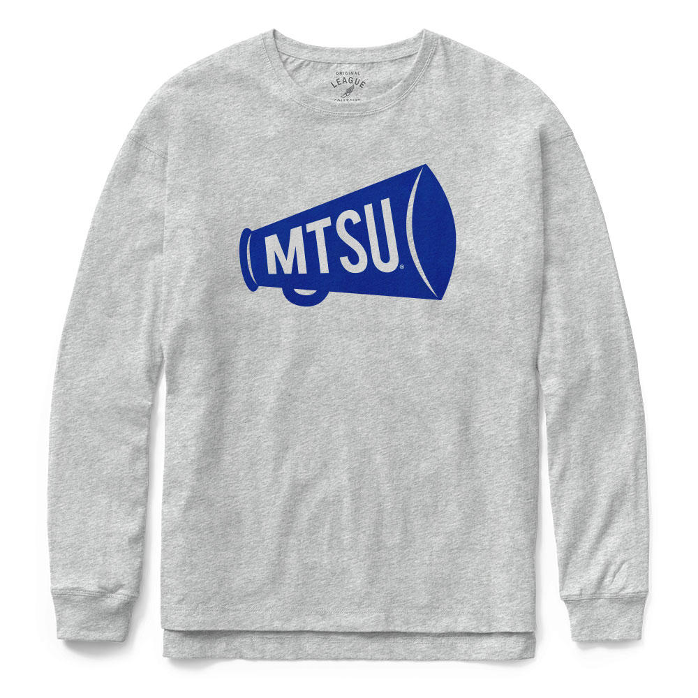 MTSU Megaphone Clothesline Cotton Long Sleeve Tshirt