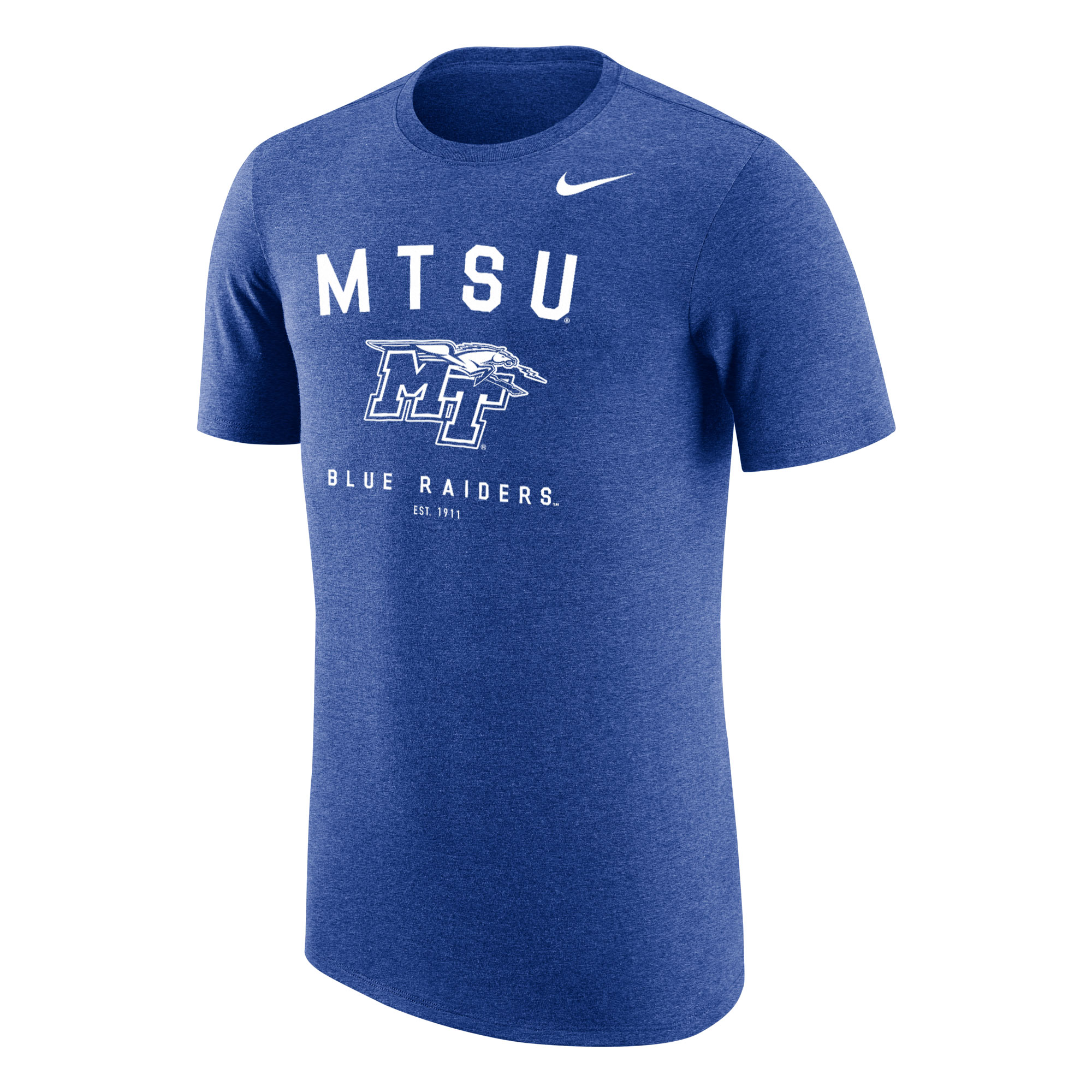 MTSU Arched Type Blue Raiders Triblend Nike® Tshirt