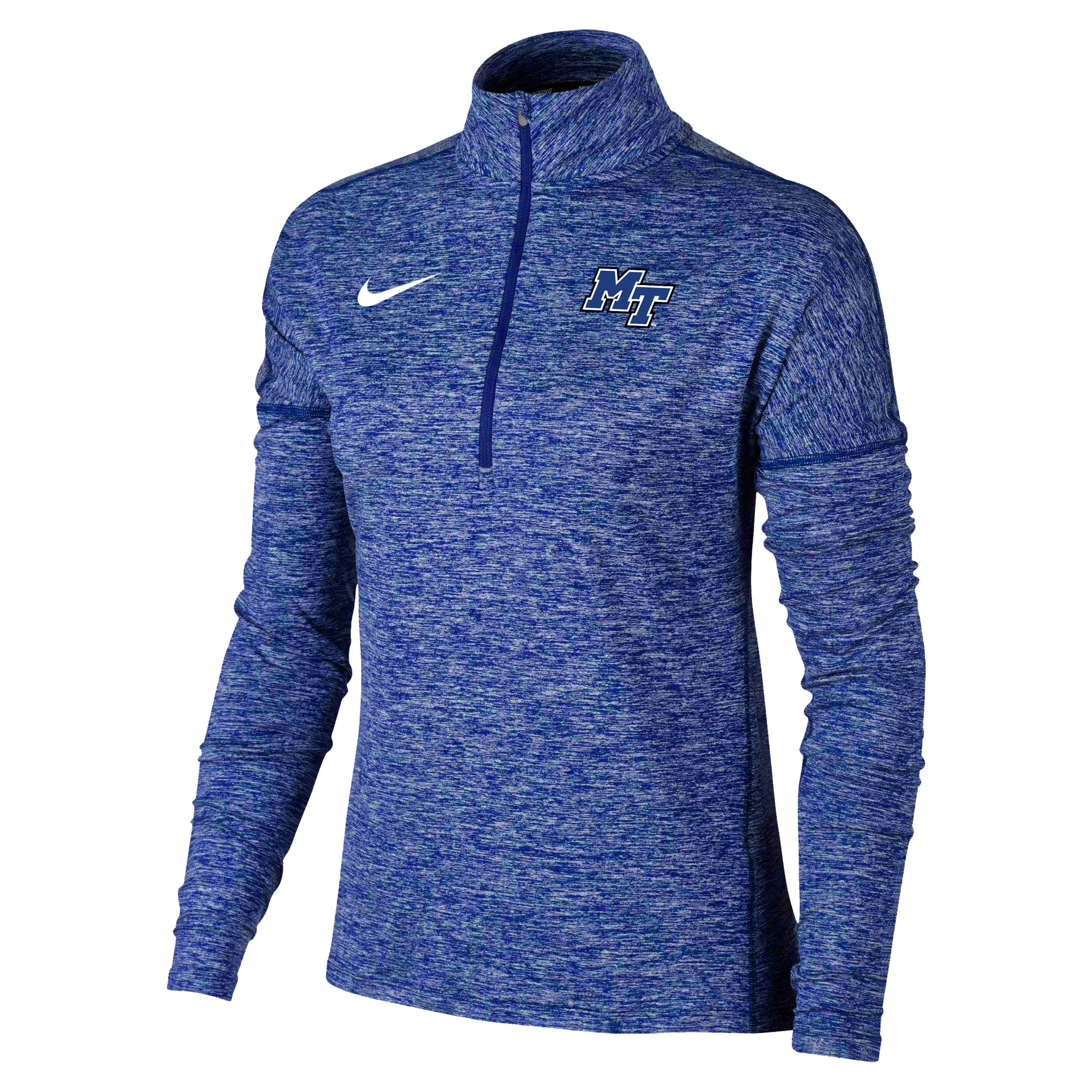 MT Logo Women's Heather Element Nike® 1/2 Zip Pullover