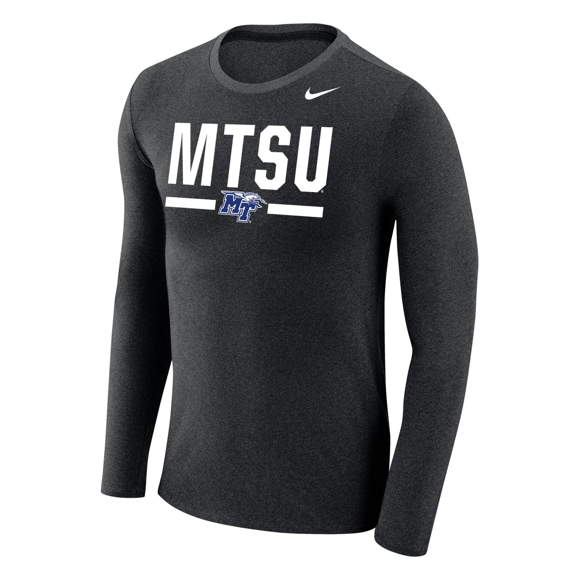 MTSU w/ MT Logo Marled Nike® Long Sleeve Shirt