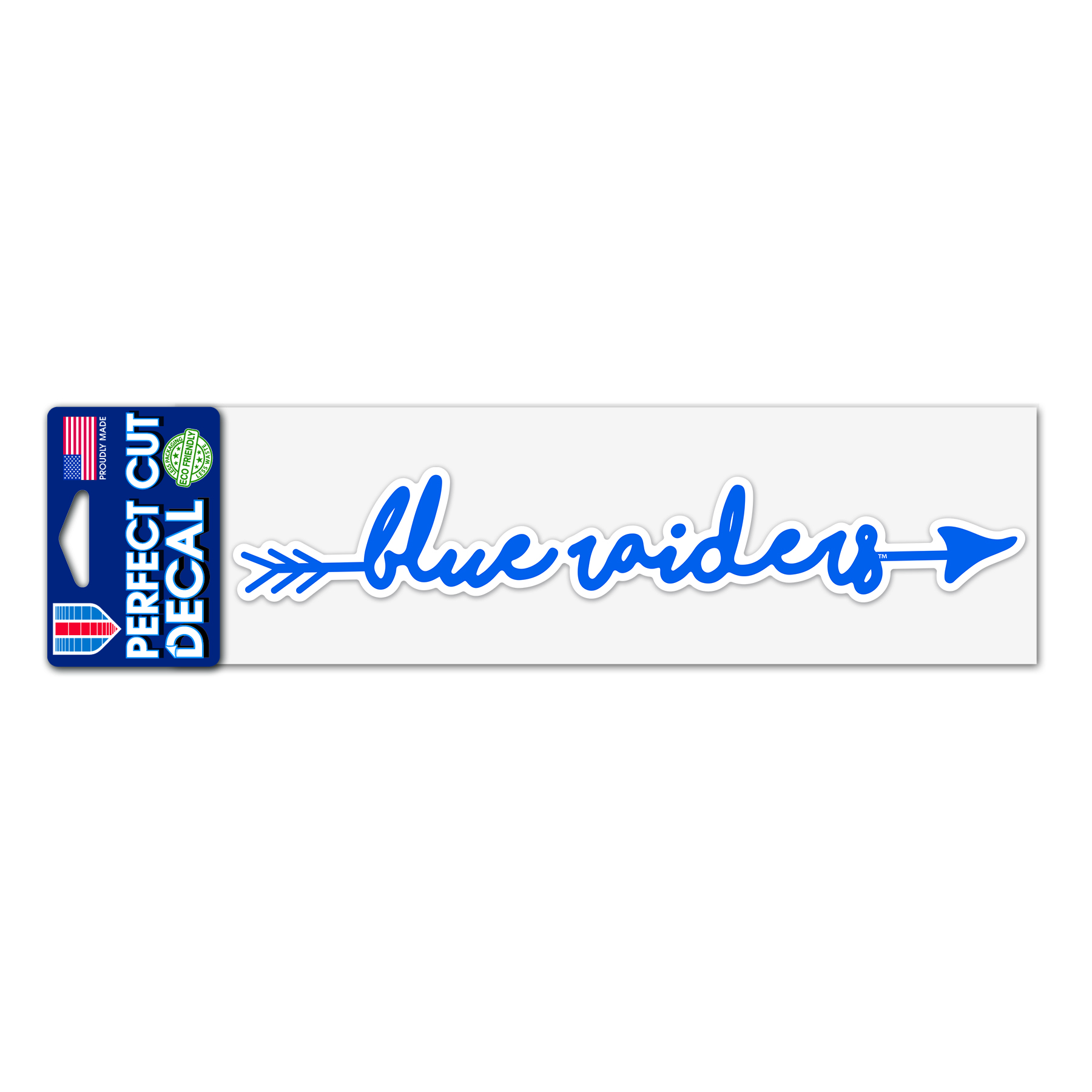 Blue Raiders Script Arrow 3x10 Perfect Cut Decal