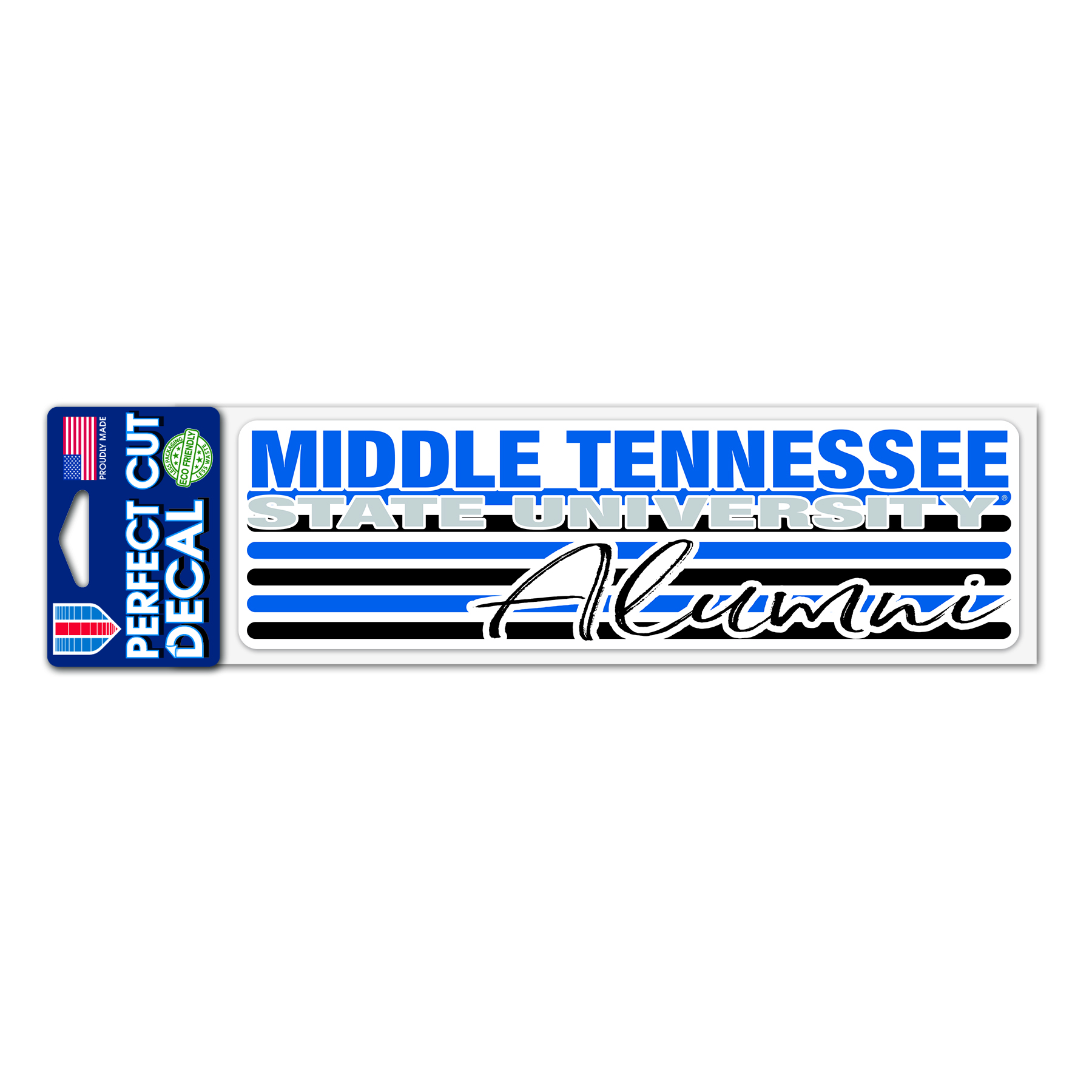 Middle Tennessee Alumni 3x10 Perfect Cut Decal