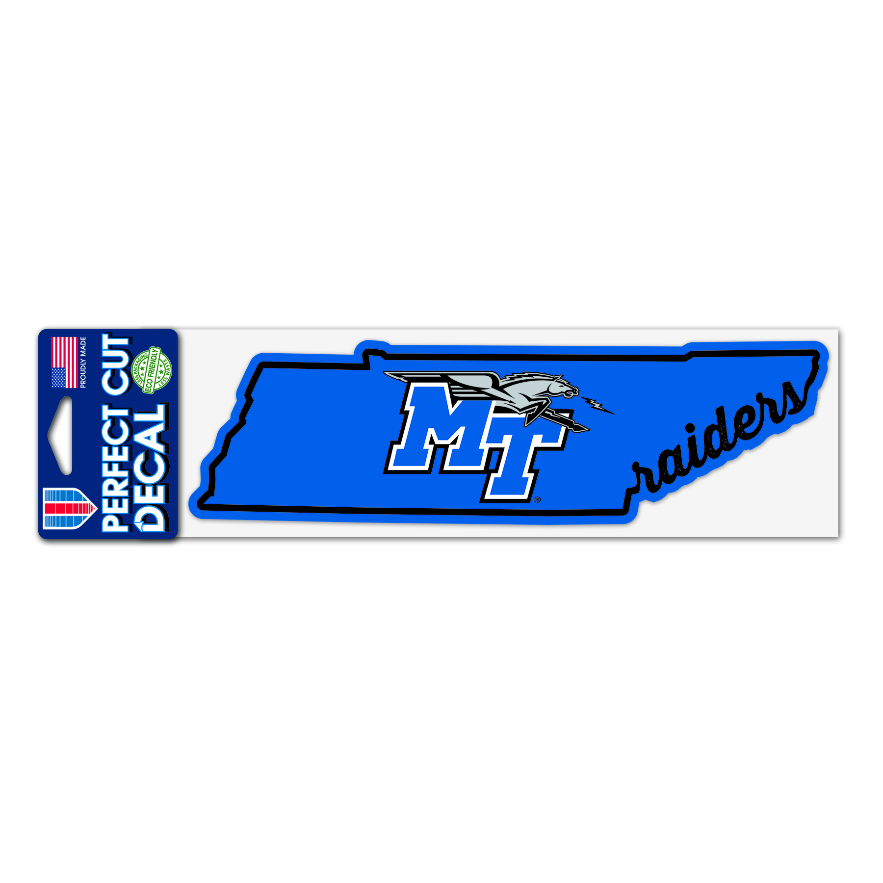 MT Raiders State Shape 3x10 Perfect Cut Decal