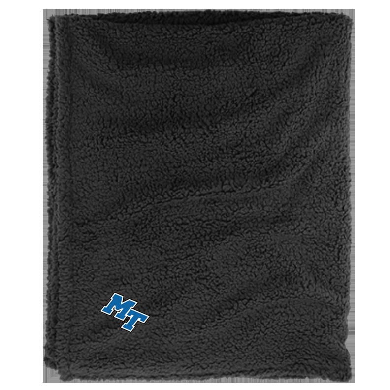MT Logo Sherpa Blanket