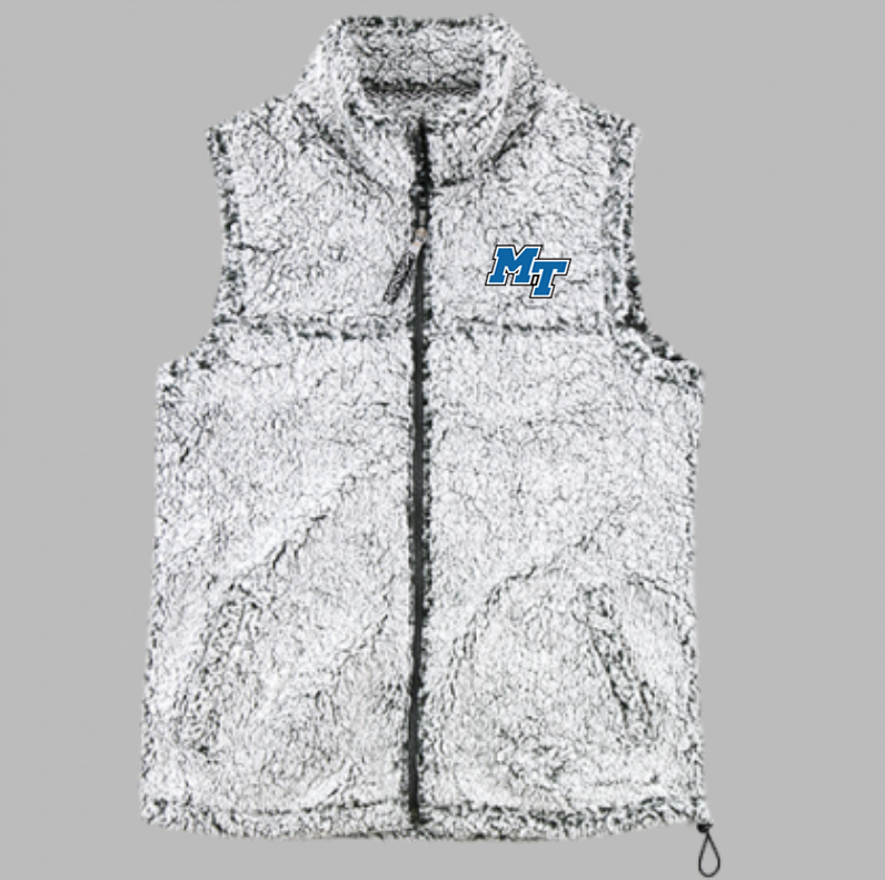MT Logo Full Zip Sherpa Vest