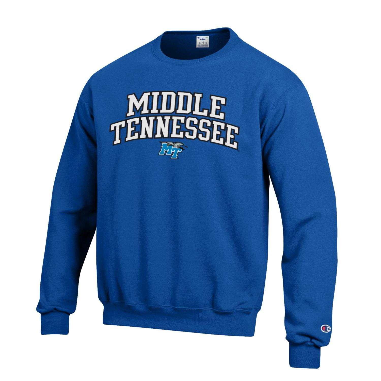 Middle Tennessee MT Logo w/ Lightning Tackle Twill Fleece Sweatshirt