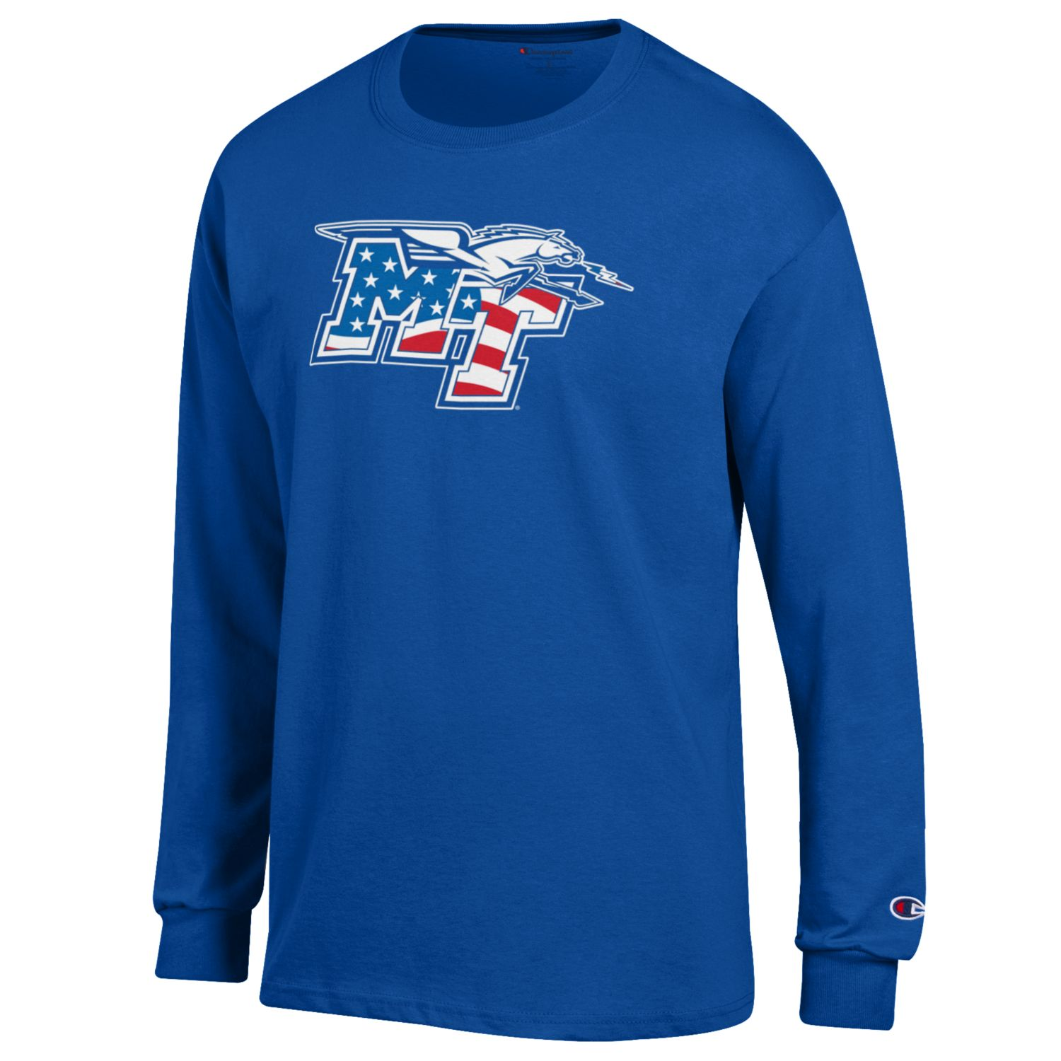 MT Logo w/ Lightning Patriotic Long Sleeve Shirt