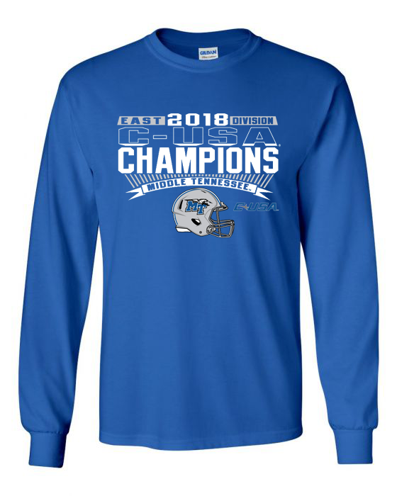MTSU C-USA East Division Champions Long Sleeve Shirt