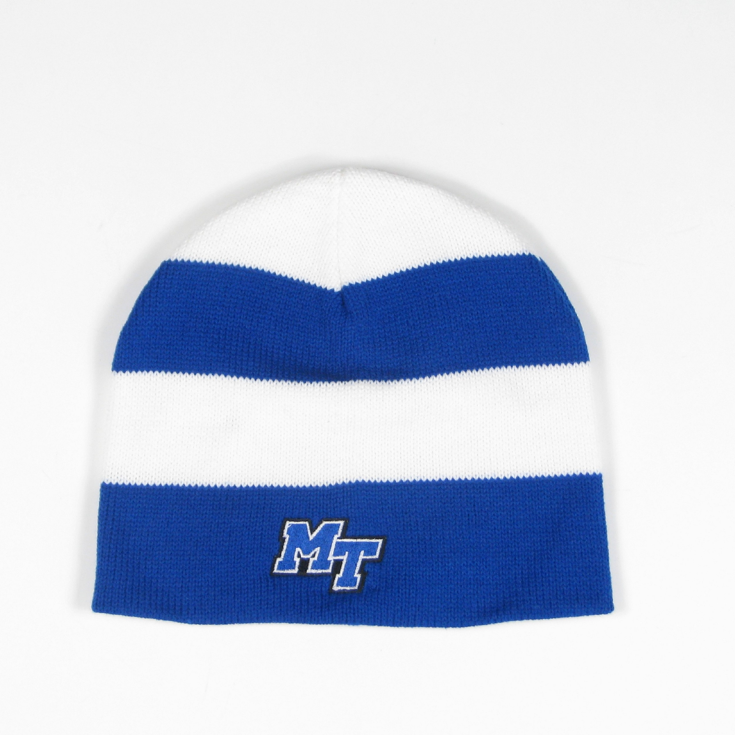 MT Logo Rugby Striped Knit Non-Cuff Beanie
