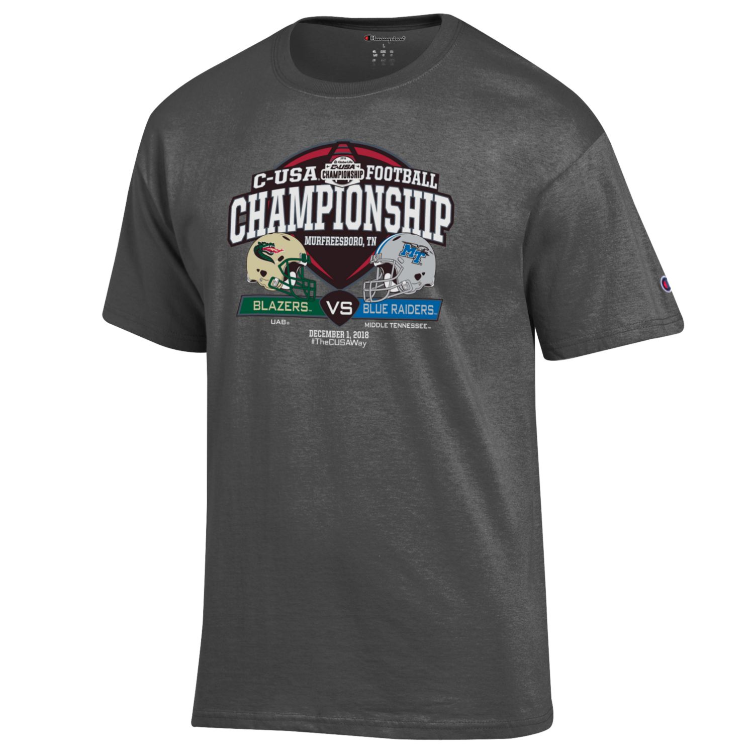 C-USA Shield MTSU vs. UAB w/ Helmets Tshirt