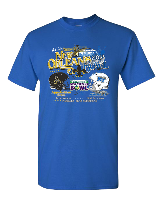 MTSU 2018 R+L New Orleans Bowl Game Shirt