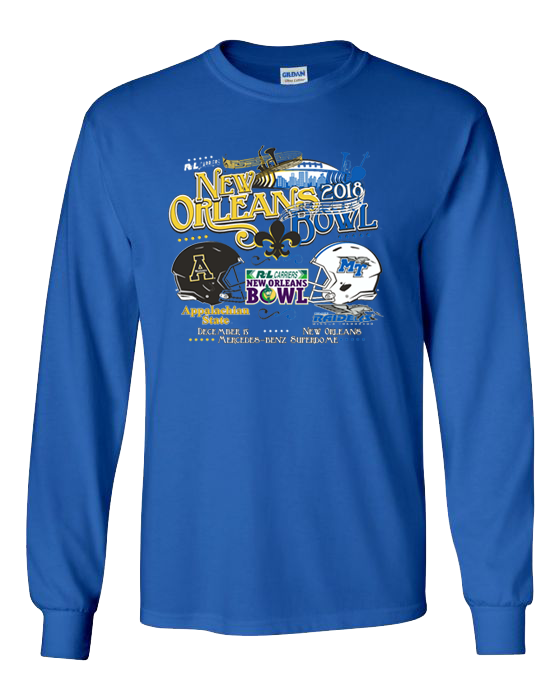 MTSU 2018 R+L New Orleans Bowl Game Long Sleeve Shirt