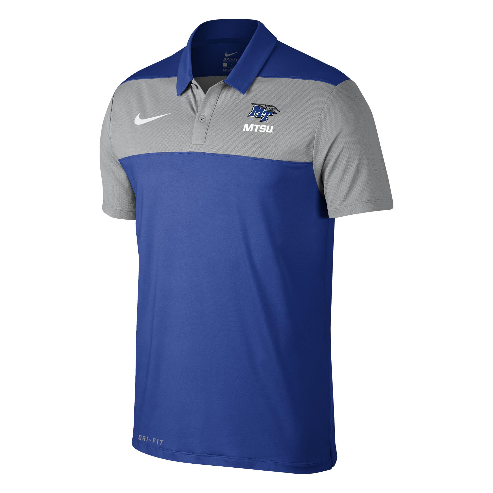 MT Logo w/ Lightning MTSU Color Block Nike® Polo