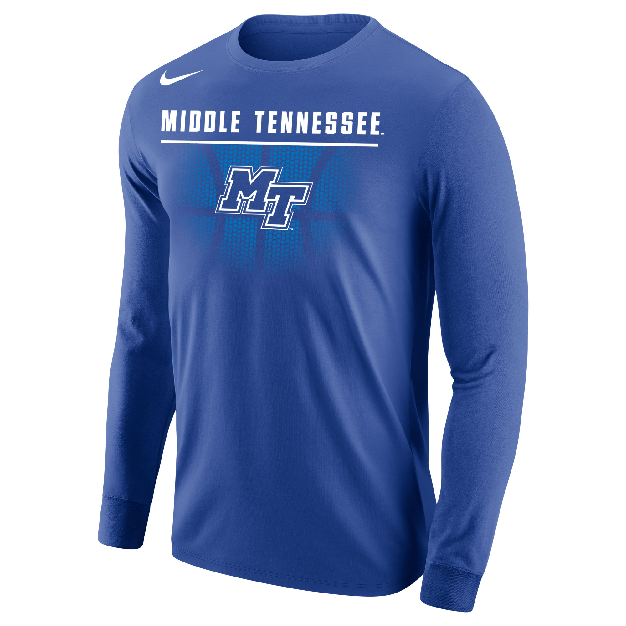 Middle Tennessee w/ MT Logo Basketball Nike® Long Sleeve Shirt