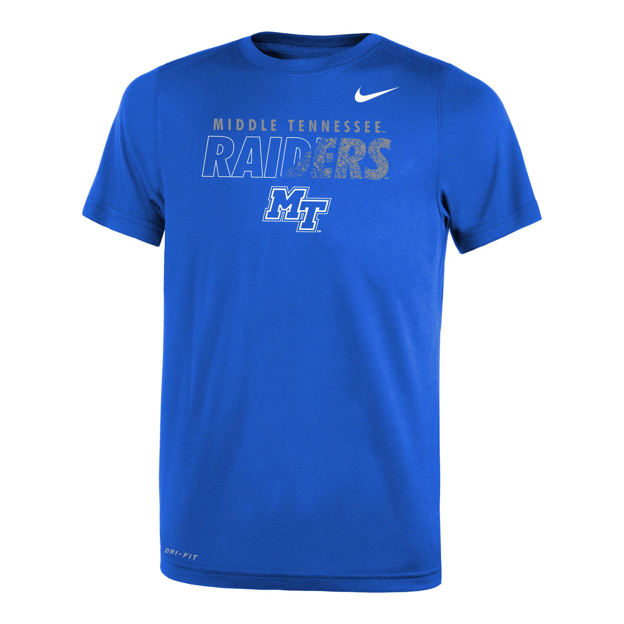 Middle Tennessee Raiders w/ MT Logo Youth Nike® Dri-Fit Legend 2.0 Tshirt