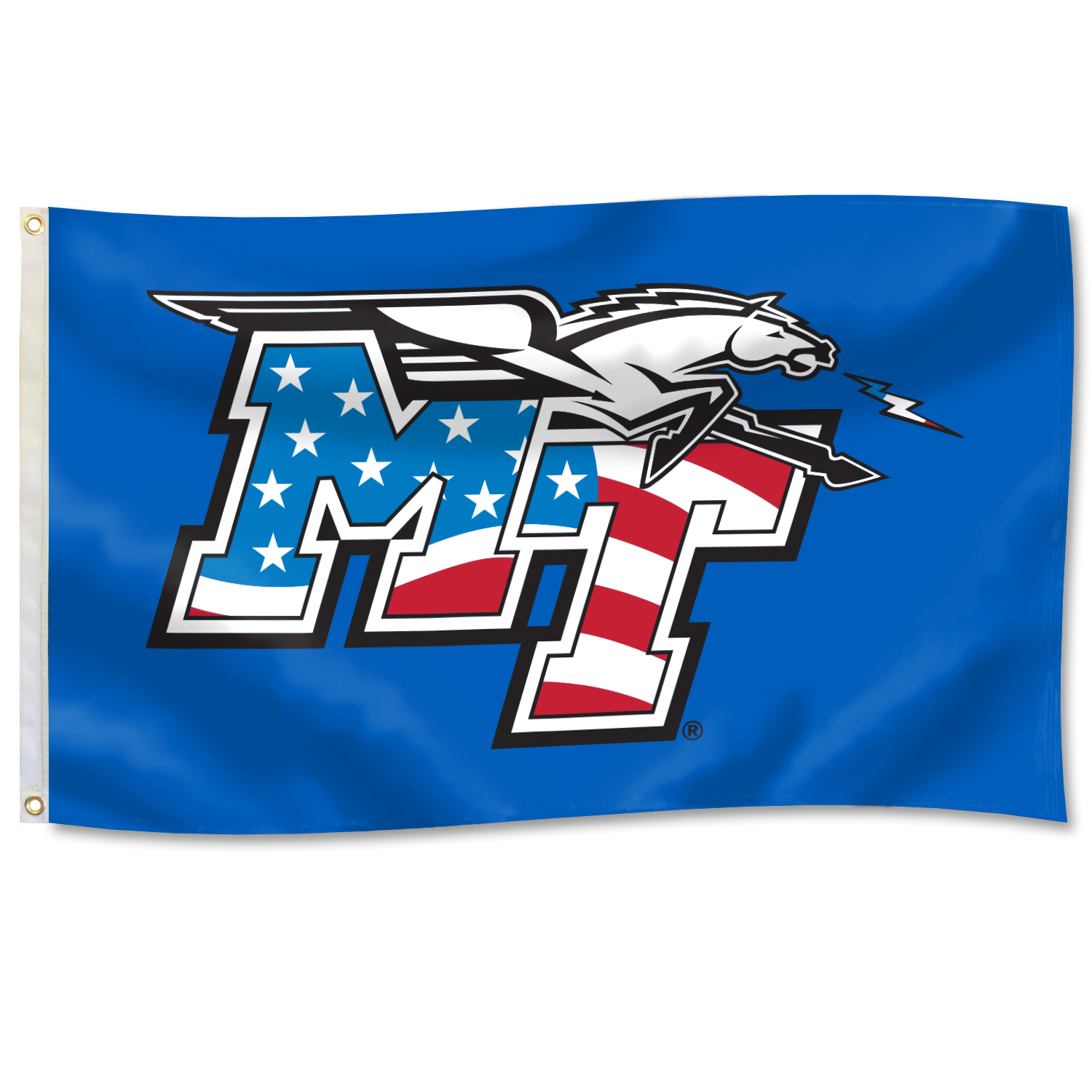 MT Logo Patriotic 3'x5' Flag