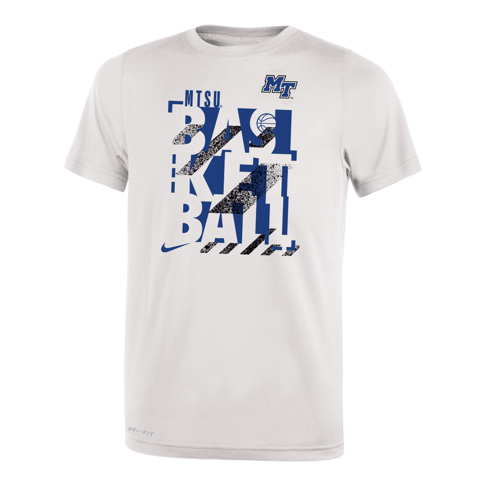 MTSU Basketball w/ MT Logo Youth Nike® Dri-Fit Legend 2.0 Tshirt