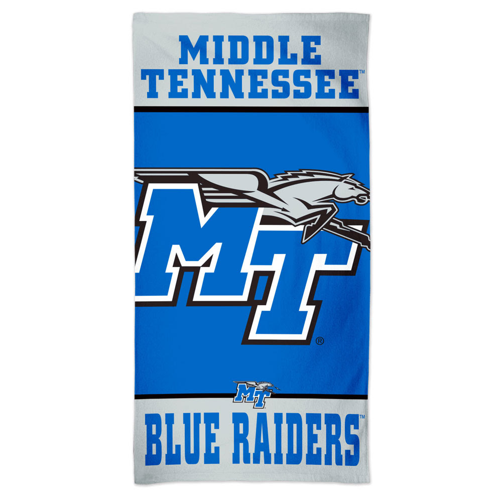 "Middle Tennessee Blue Raiders Spectra Beach Towel 30"" x 60"""