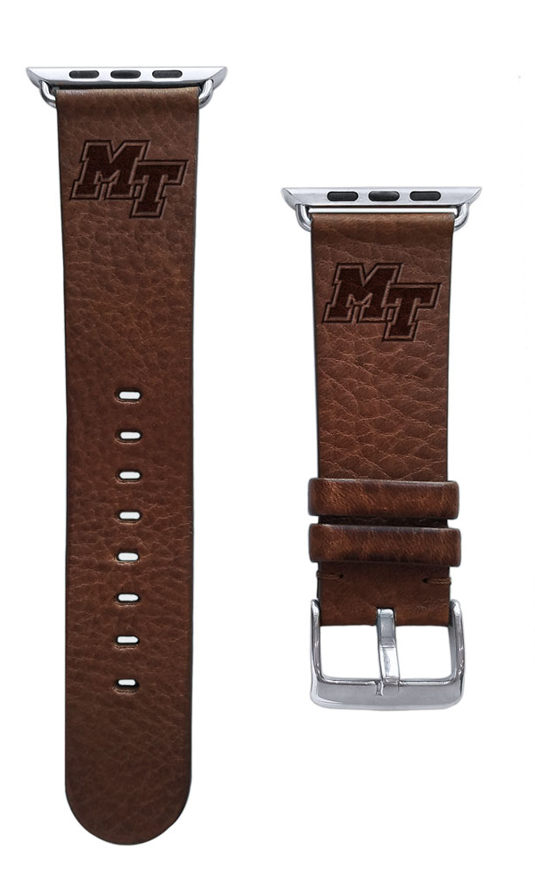 MT Logo Leather Band for Apple Watch