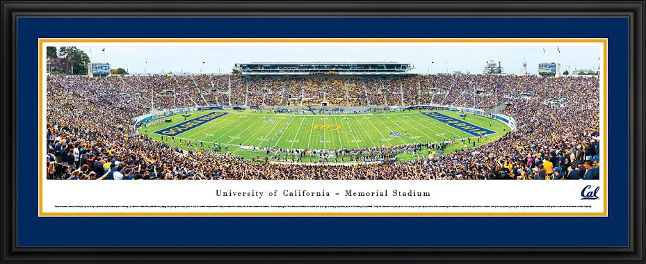 University of California Berkeley Panorama Deluxe Frame