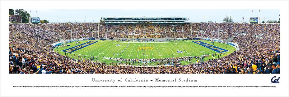 University of California Berkeley Panorama Unframed Tubed