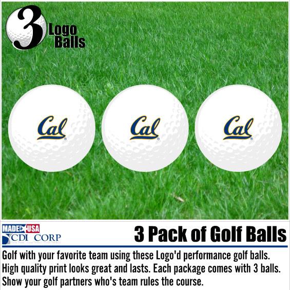 Cal 3 Pack Golf Balls