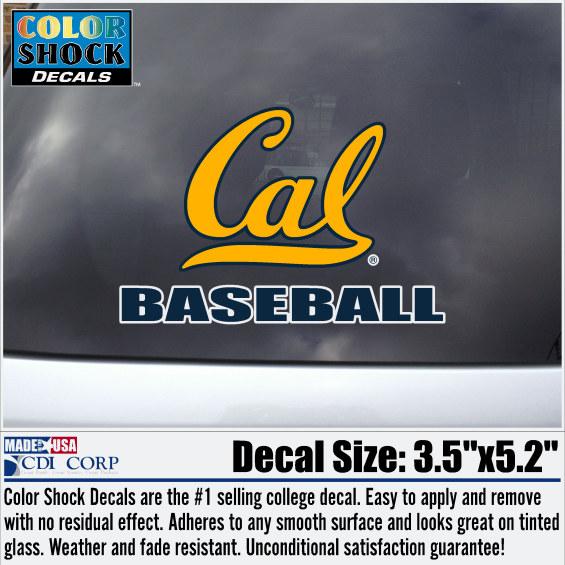 University of California Berkeley Baseball Decal