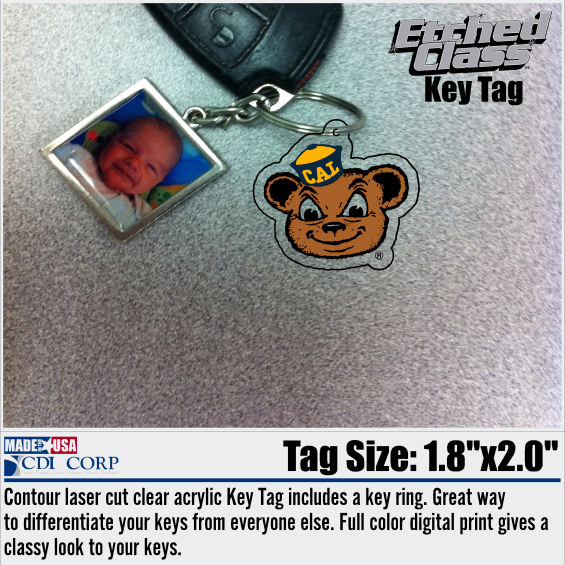 University of California Berkeley Ultimate Key Tag Oski