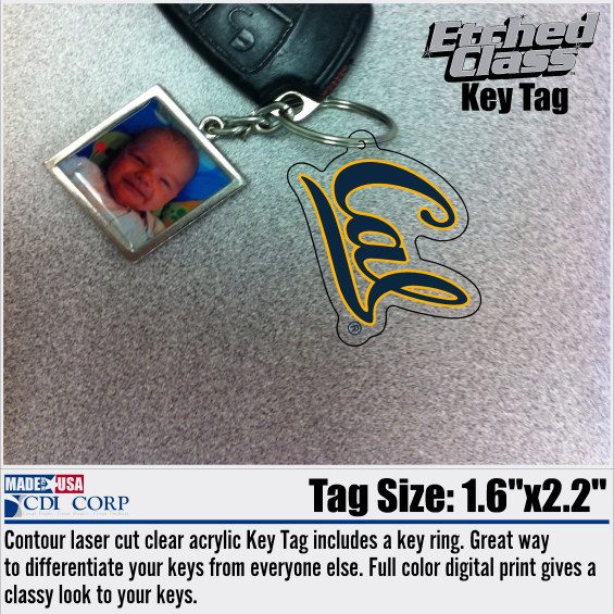"University of California Berkeley Ultimate Key Tag ""Cal"""