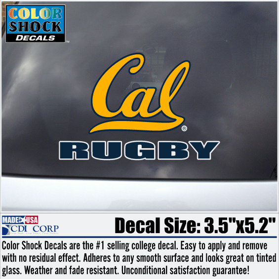 University of California Berkeley Rugby Decal