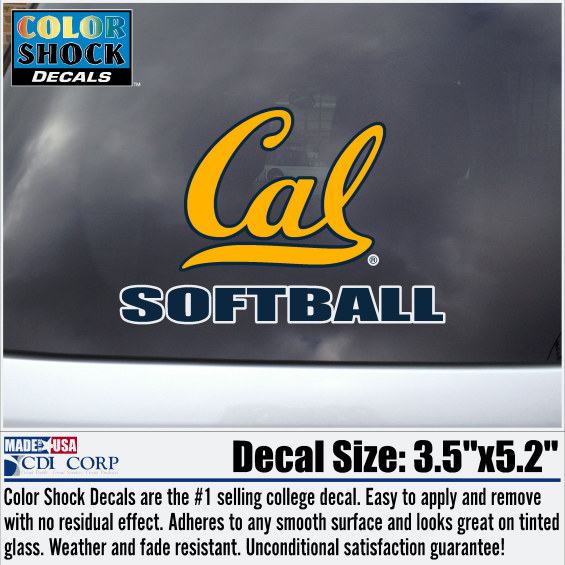 University of California Berkeley Softball Decal