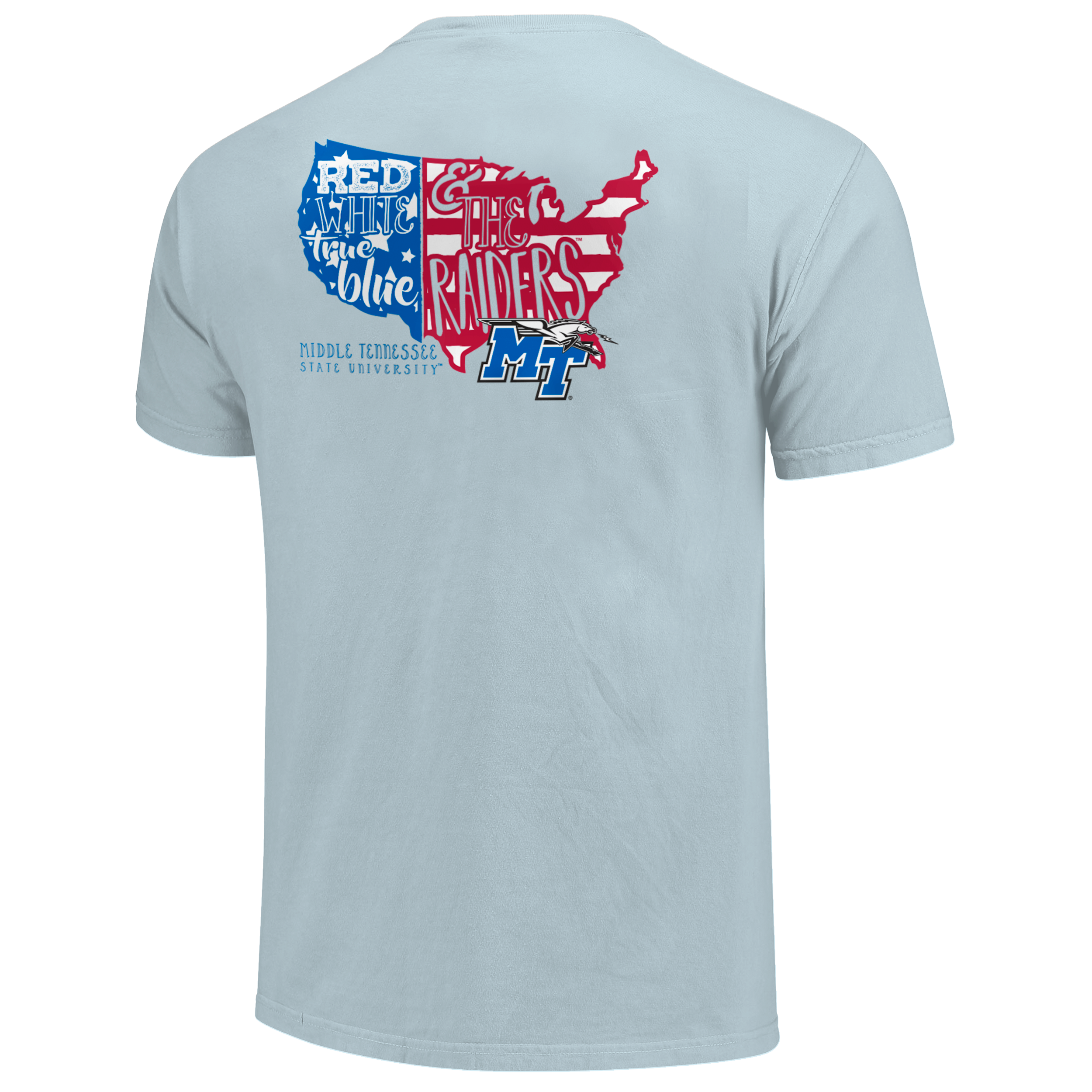 Red White & True Blue Raiders Comfort Colors Shirt