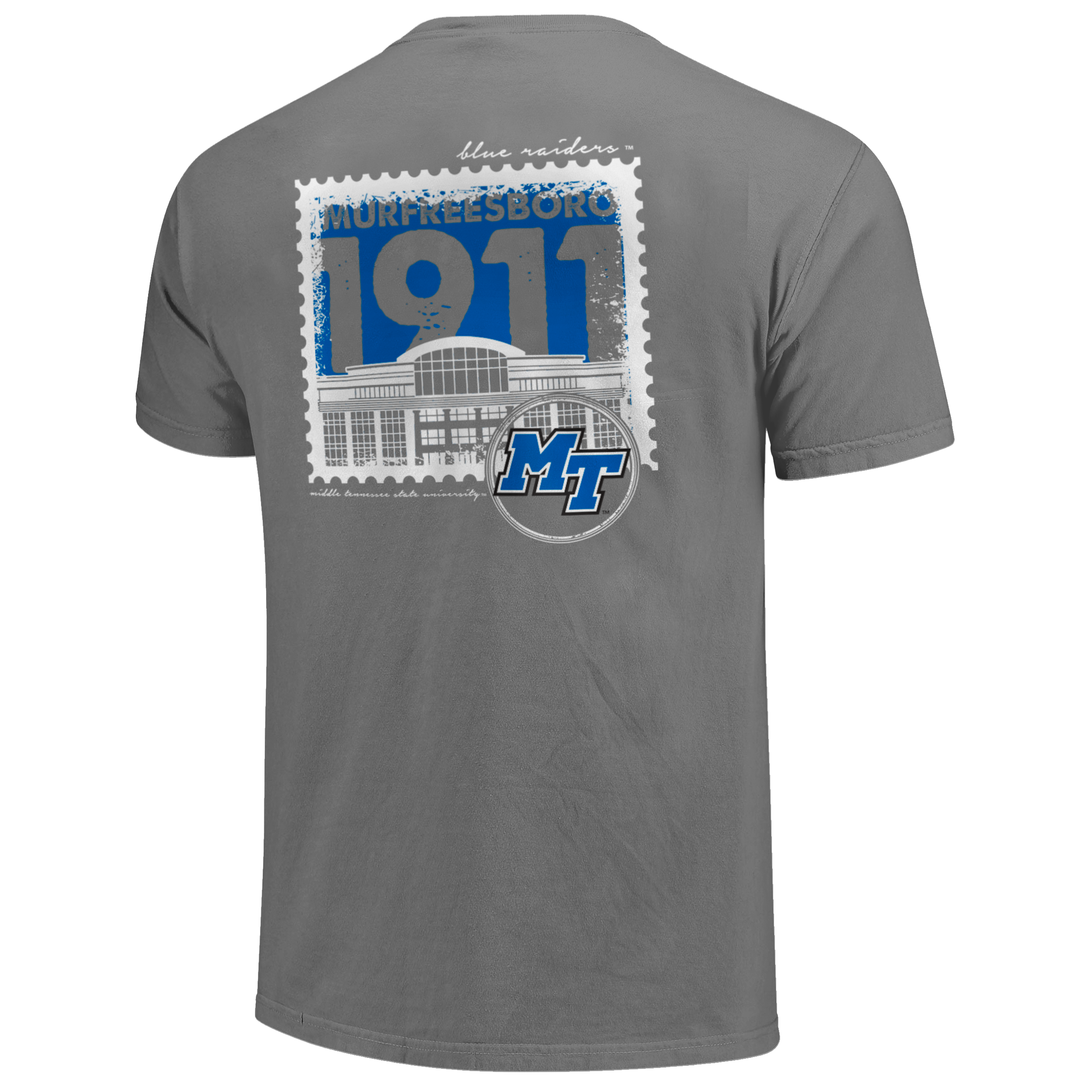 MTSU Building Stamp Comfort Colors Shirt