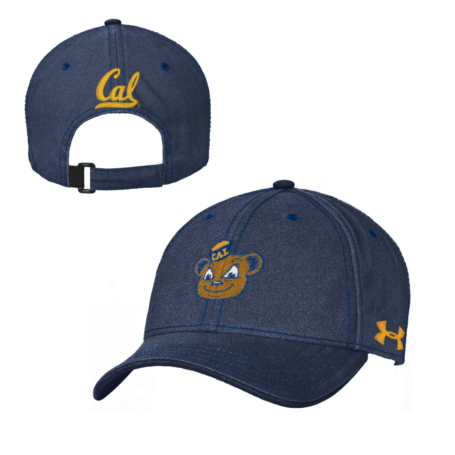 Cal Bears Under Armour Youth Garment Washed Cotton Cap